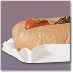 Hoffmaster Medium Weight Fluted White Paper Hot Dog Trays