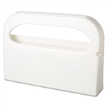 Health Gards Half-Fold Cover White Toilet Seat Cover Dispenser