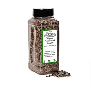 Organic Black Pepper Medium Grind 28 Mesh - 13 oz.