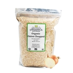 Organic Onion Chopped Resealable Bag - 5 lb.
