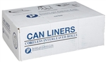 HDPE High Density Natural Can Liners - 24 in. x 33 in.