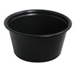 Souffle Black Portion Cups 2 oz