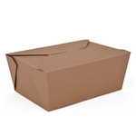Eco-Box Kraft Size 1 Food Box - 4 in. x 3 in. x 2.5 in.