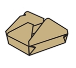 Eco-Box Kraft Size 2 Food Box - 7 in. x 5 in. x 1.9 in.