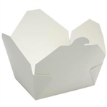 Eco-Box White Size 3 Food Box - 7 in. x 5 in. x 2.5 in.