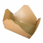 Eco-Box Kraft Size 3 Food Box - 7 in. x 5 in. x 2.5 in.