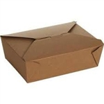 Eco-Box Kraft Size 4 Food Box - 7 in. x 5 in. x 3.5 in.