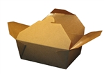 Eco-Box Kraft Size 8 Food Box - 6 in. x 4 in. x 2.5 in.