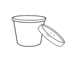 Kraft Paper Soup Cup with Vented Lid Combo - 12 oz.