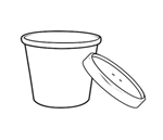 Kraft Paper Soup Cup with Vented Lid Combo - 16 oz.