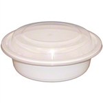 Microwave White Medium Round Combo Containers - 6 in.
