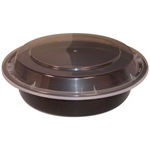 Microwave Black Deep Round Combo Containers - 7 in.
