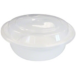 Microwave White Deep Round Combo Containers - 7 in.