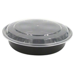 Microwave Black Deep Round Combo Containers - 9 in.
