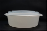 Microwave White Deep Round Combo Containers - 9 in.
