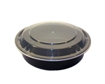 Microwave Black Medium Round Combo Containers - 7 in.
