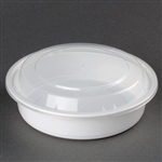 Microwave White Medium Round Combo Containers - 7 in.