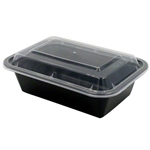 Microwave Deep Rectangle Black Combo - 7 in. x 5 in.