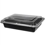 Microwave Medium Rectangle Black Combo - 8 in. x 6 in.