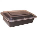 Microwave Deep Rectangle Black Combo - 8 in. x 6 in.