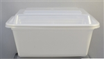 Microwave Deep Rectangle White Combo - 8 in. x 6 in.