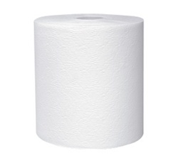 Kleenex Roll Towels, 1 Ply, 8in.Wx425ft.L, White, Hard Roll
