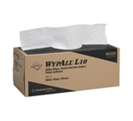 WypALL L10 Utility Wipers, 1 Ply, 12in.Wx10.5in.L, White, Disposable, Pop-Up Box