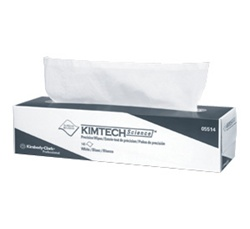 KimTech Science Precision Wipers, 1 Ply, 15.75in.Wx16.75in.L, White, Low-Lint