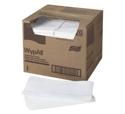 WypALL X70 Foodservice Towels, 1 Ply, 12.5in.Wx23.5in.L, 0.25-Fold