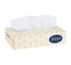 Surpass Facial Tissue, 2 Ply, 8.25in.Wx8.25in.L, White, Flat Box