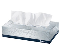 Kleenex Facial Tissue, 2 Ply, 8.5in.Wx8.5in.L, White, Signal Feature