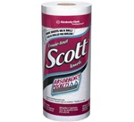 Scott Kitchen Roll Towels, 1 Ply, 8.78in.Wx11in.L, White, Roll
