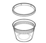 Delitainer Round Translucent 16 oz. Container and Lid Combos