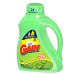 Gain Laundry Detergent, 50 oz Bottle, Liquid, Scent: Perfumed