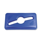 Slim Jim Single Stream Recycling Top Blue For Slim Jim Container
