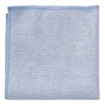 Light Commercial Microfiber Blue Cleaning Cloth - 12 in. x 12 in.