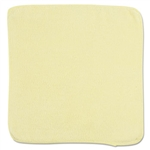 Light Commercial Microfiber Yellow Cleaning Cloth - 12 in. x 12 in.