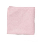 Light Commercial Microfiber Red Cleaning Cloth - 16 in. x 16 in.