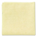 Light Commercial Microfiber Yellow Cleaning Cloth - 16 in. x 16 in.