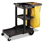 Zippered Vinyl Cleaning Cart Yellow Bag - 17.2 in. x 10.5 in.