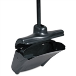 Lobby Pro Upright Black Dust Pan with Cover