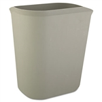Fire Resistant Gray Wastebasket - 14 Qt.