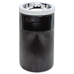Black Smoking Urn with Ashtray and Metal Liner