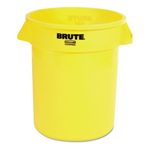Round Brute Yellow Container - 20 Gal.