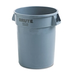 Round Brute Gray Container - 32 Gal.