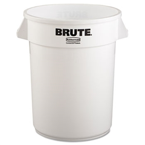 Round Brute White Container - 32 Gal.