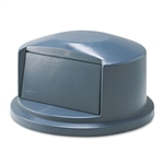 Round Brute Gray Dome Top For 2632 Containers