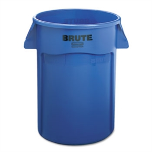 Round Brute Blue Utility Container - 44 Gallon