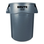 Round Brute Gray Utility Container - 44 Gallon