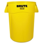 Round Brute Yellow Utility Container - 44 Gallon